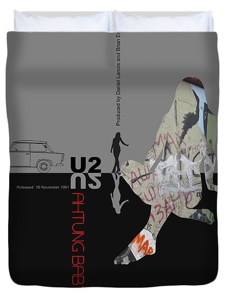 U2 Poster Duvet Cover by Naxart Studio