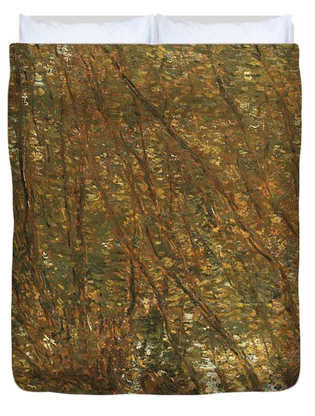 Under The Alders Duvet Cover by Childe Hassam