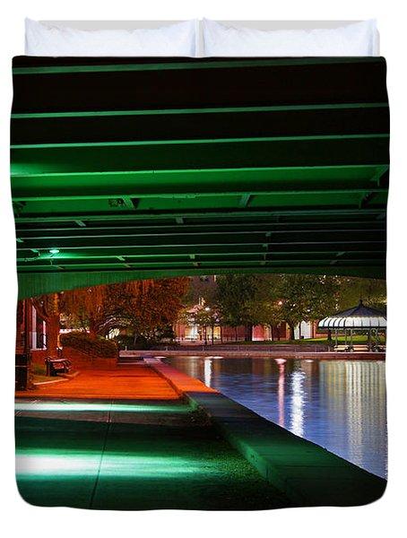 Under The Bridge Duvet Cover by Joann Vitali