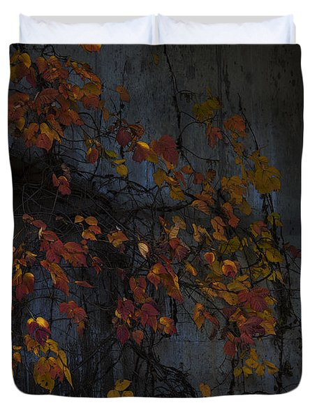Under The Overpass Duvet Cover by Ron Jones