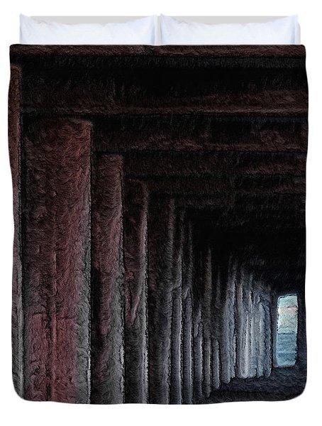 Under The Pier 2 Duvet Cover by Ernie Echols