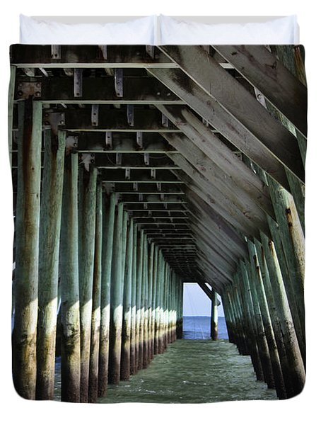 Under The Pier Duvet Cover by Teresa Mucha