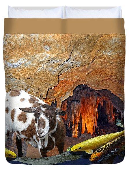 Underground Swim Duvet Cover