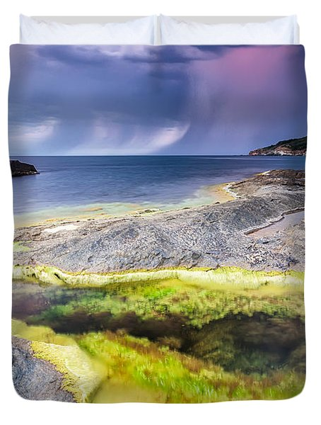 Unexpected Storm Duvet Cover by Evgeni Dinev