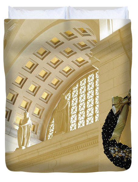 Union Station Holiday Duvet Cover by Jost Houk