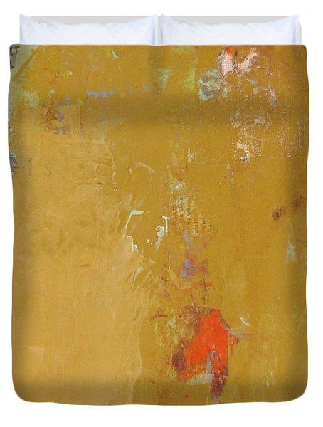 Untitled Abstract - Ochre Cinnabar Duvet Cover