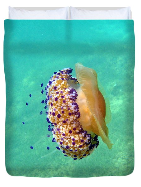 Unwelcome Jellyfish Duvet Cover by Rod Johnson