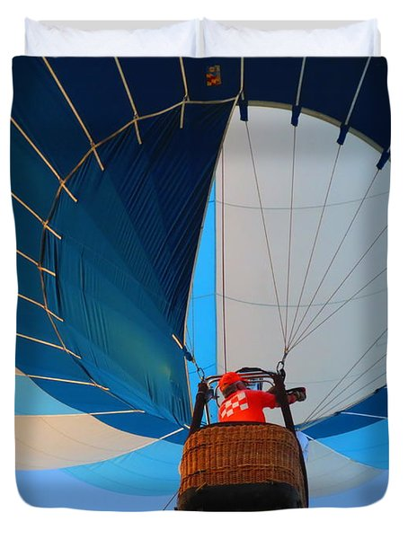 Duvet Cover featuring the photograph Up Into The Blue. Oshkosh 2012. by Ausra Huntington nee Paulauskaite