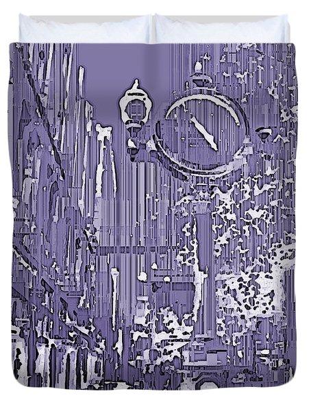 Urban Timepiece Duvet Cover by Tim Allen