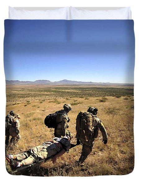 U.s. Air Force Pararescuemen Carry Duvet Cover by Stocktrek Images