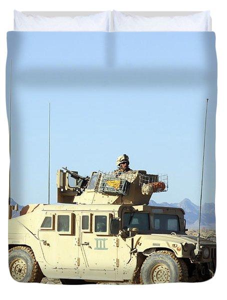 U.s. Marine Standing Ready Duvet Cover by Stocktrek Images