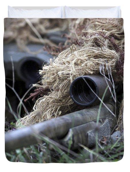 U.s. Marines Practice Stalking Duvet Cover by Stocktrek Images
