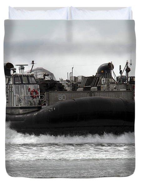 U.s. Navy Landing Craft Air Cushion Duvet Cover by Stocktrek Images