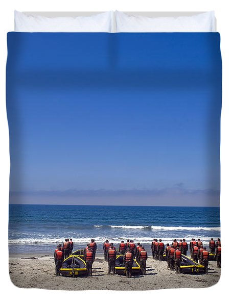 U.s. Navy Seal Candidates Participate Duvet Cover by Stocktrek Images