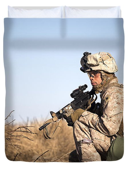 U.s. Navy Soldier Participates Duvet Cover by Stocktrek Images