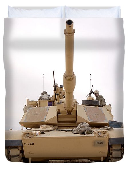 U.s. Soldiers Perform Maintenance Duvet Cover by Stocktrek Images