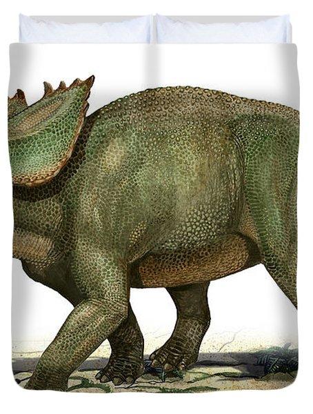 Utahceratops Gettyi, A Prehistoric Era Duvet Cover by Sergey Krasovskiy