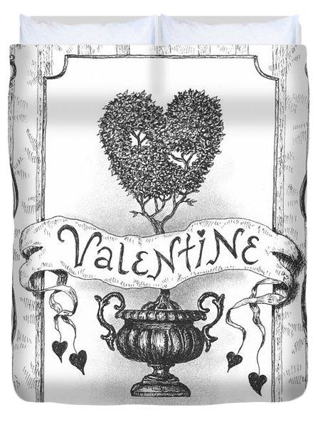 Valentine Duvet Cover by Adam Zebediah Joseph