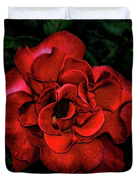 Valentine Rose Duvet Cover by Mariola Bitner