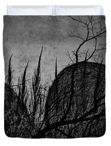 Valley Of Sticks Duvet Cover by Empty Wall