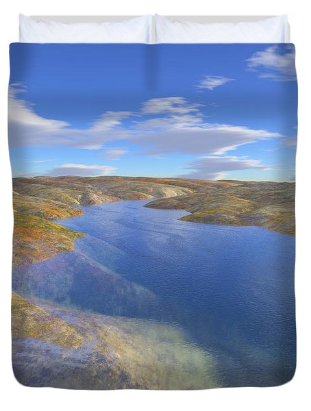 Valley Stream 2 Duvet Cover by Mark Greenberg