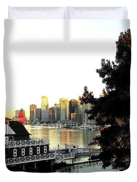 Vancouver At Sundown Duvet Cover by Will Borden