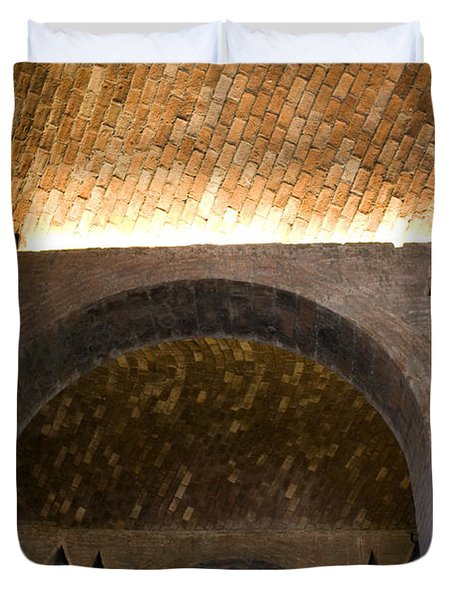 Vaulted Brick Arches Duvet Cover by Lynn Palmer
