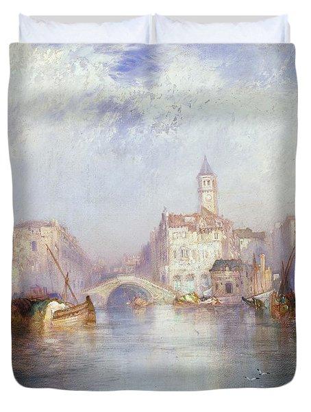 Venetian Canal Duvet Cover