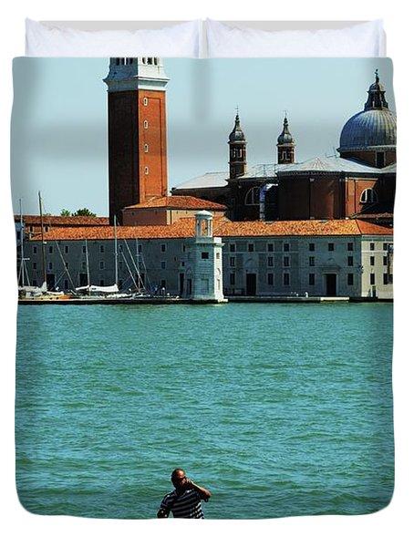 Venice Gandola Duvet Cover