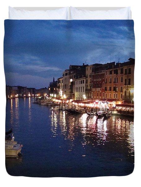 Duvet Cover featuring the photograph Venice by Marta Cavazos-Hernandez