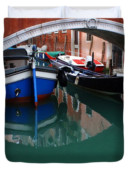 Venice Reflections 2 Duvet Cover by Bob Christopher