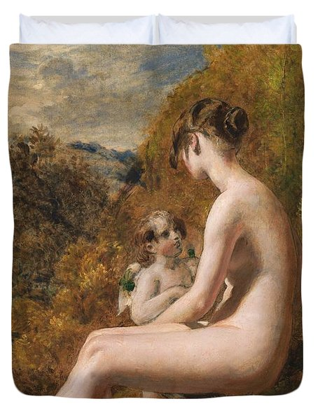 Venus And Cupid  Duvet Cover by William Etty