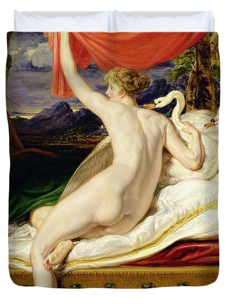 Venus Rising From Her Couch Duvet Cover by James Ward