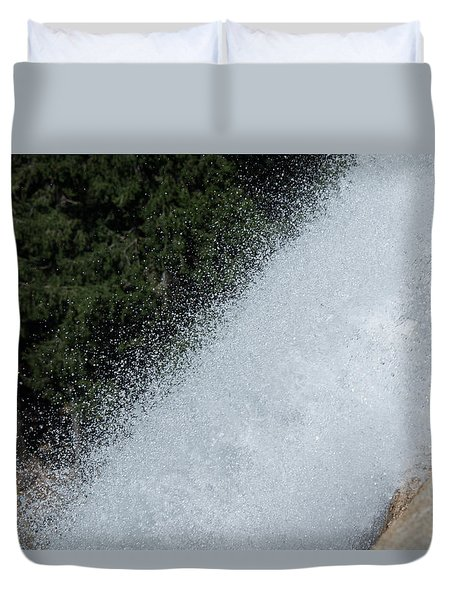 Vernal Falls On The Mist Trail At Yosemite Np Duvet Cover