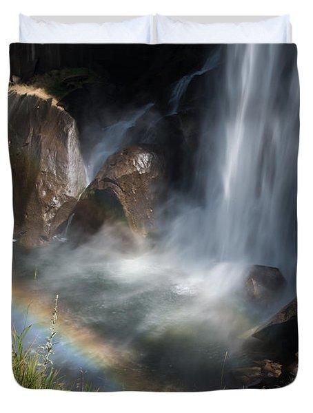 Vernal Falls Rainbow On Mist Trail Yosemite Np Duvet Cover