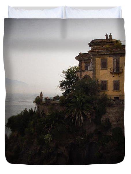 Vesuvius From Sorrento Duvet Cover