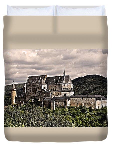 Vianden Castle - Luxembourg Duvet Cover by Juergen Weiss