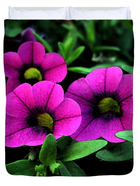 Vibrant Pink Duvet Cover by Karen Harrison
