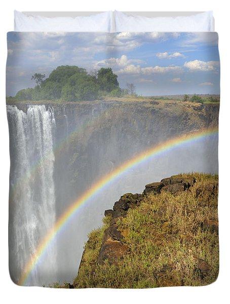 Victoria Falls Duvet Cover by Tony Beck