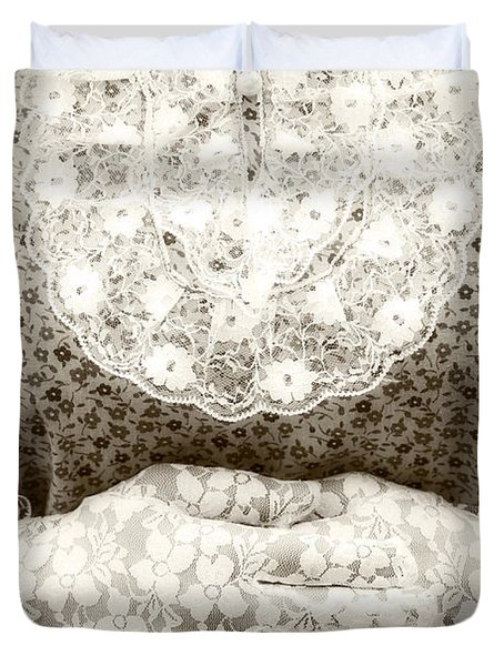 Victorian Hands Duvet Cover by Joana Kruse
