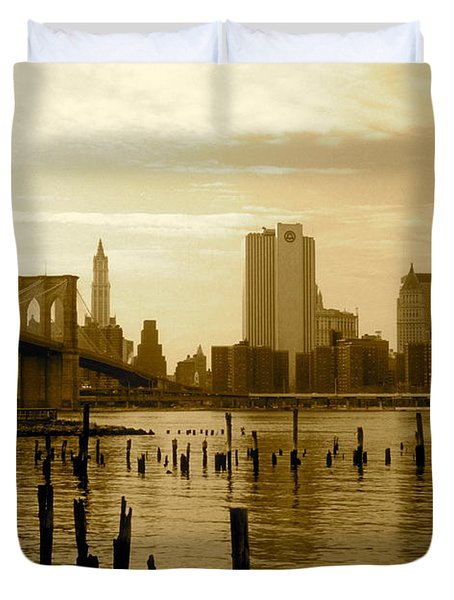 View From Brooklyn Bridge Park Duvet Cover