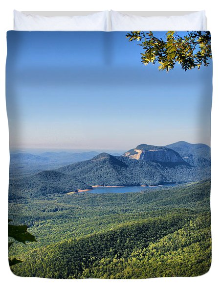 View From Caesar's Head Duvet Cover by Lynne Jenkins