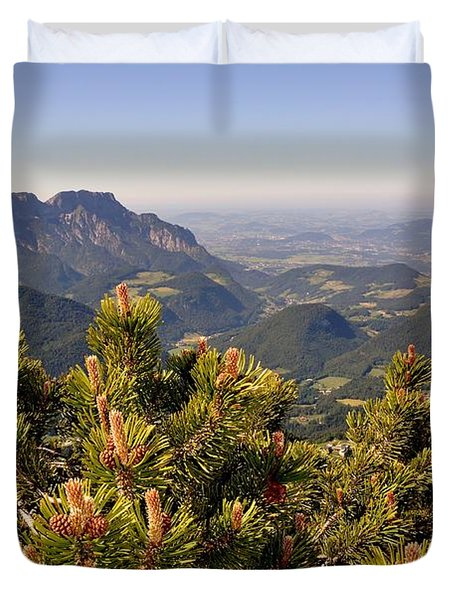 View From Eagles Nest Duvet Cover by Rick Frost