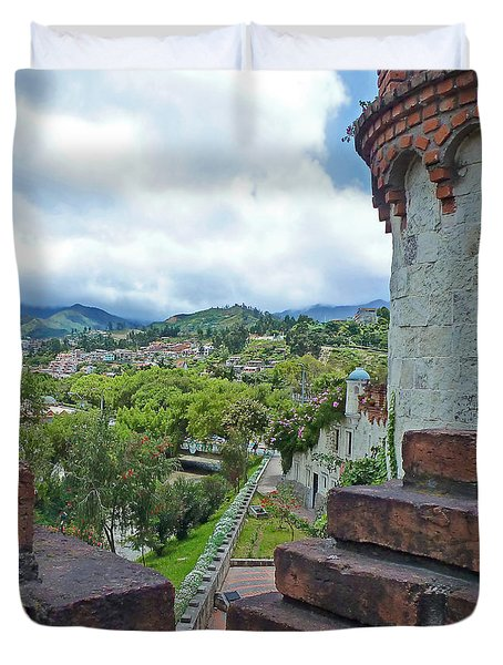 View From The City Walls - Loja - Ecuador Duvet Cover