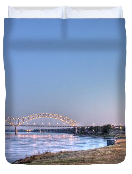 View From The Park Duvet Cover by Barry Jones