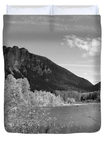 Duvet Cover featuring the photograph View From The River by Kathleen Grace
