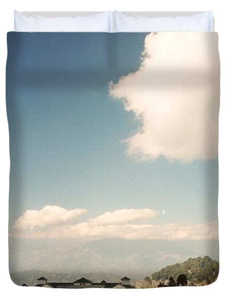 Duvet Cover featuring the photograph View From The Window by Fotosas Photography