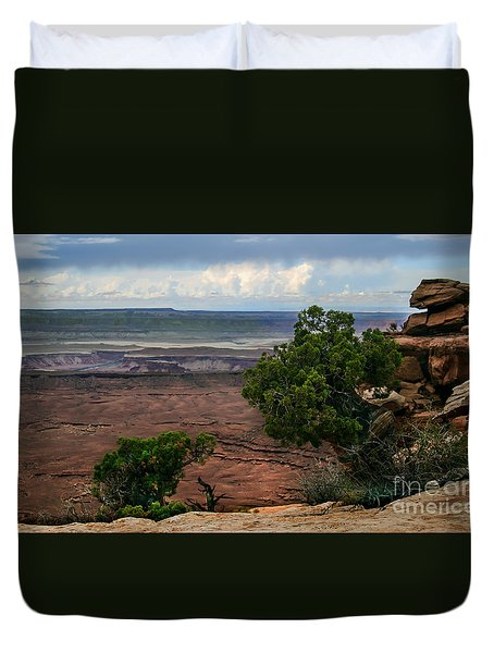 View Of Canyonland Duvet Cover by Robert Bales