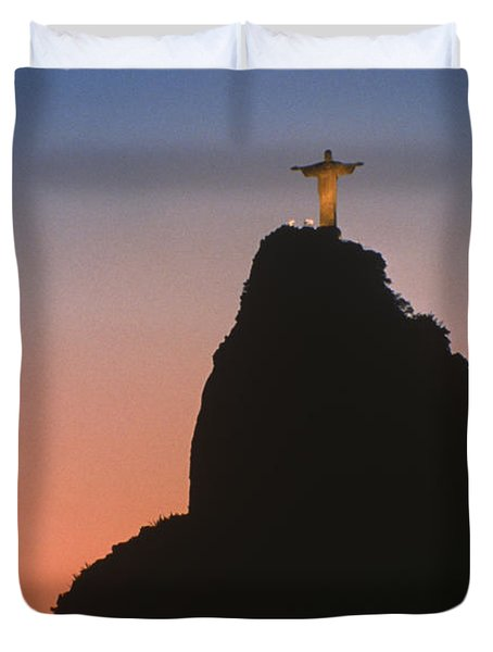 View Of Christ The Redeemer  Duvet Cover