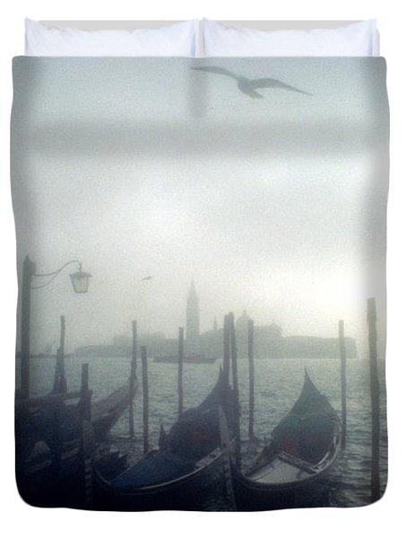 View Of San Giorgio Maggiore From The Piazzetta San Marco In Venice Duvet Cover by Simon Marsden